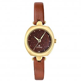 Titan Brown Dial Analog Watch for Women (2520YL02)