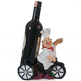 Chef On Rickshaw Wine Delivery Show Piece