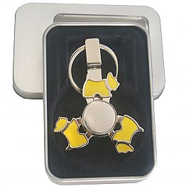 Dog fidget spinner and key chain