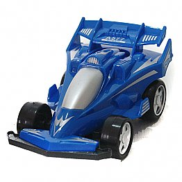 Powerful Friction Racing Car Pull and Go Toy (Blue)