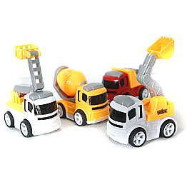Construction Truck Sets Series (4 Mini Trucks)