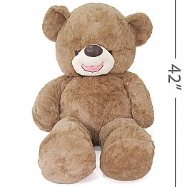 Lovely Smiley Teddy Bear with Bow (42 Inches)