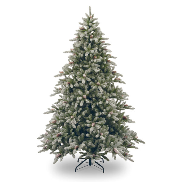 Artificial snow christmas tree ft tall with decoration