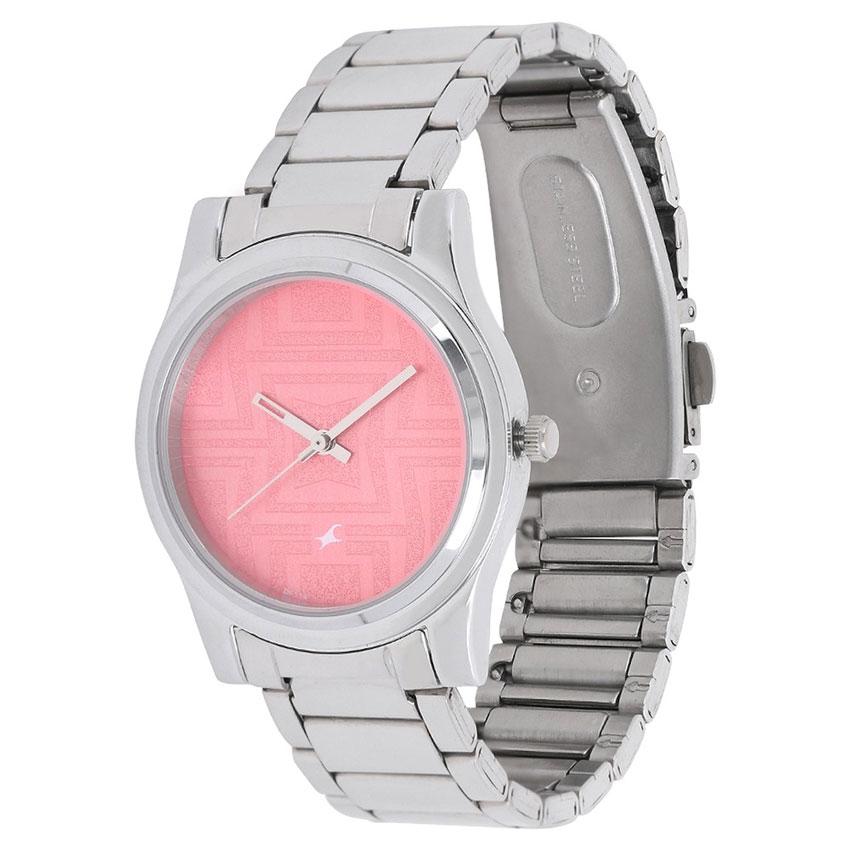 48c3d6578 Fastrack Pink Dial Analog Watch for Women (6046SM02)  Farakilo.com ...